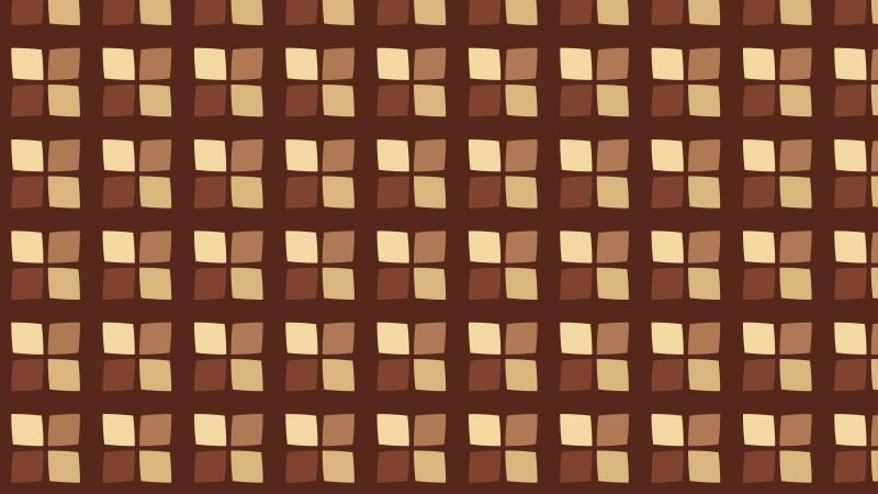 Brown Square Background Pattern Design