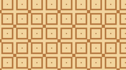Brown Seamless Geometric Square Pattern Vector Art
