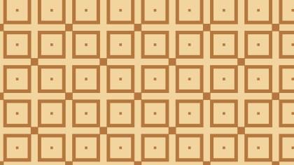 Brown Seamless Geometric Square Pattern Vector Art