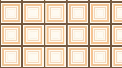 Brown Seamless Concentric Squares Pattern Background