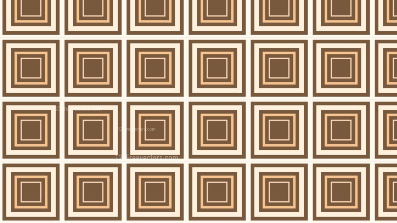 Brown Seamless Concentric Squares Background Pattern