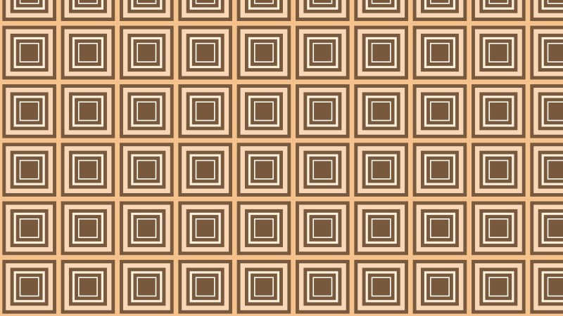 Brown Concentric Squares Pattern Vector Graphic