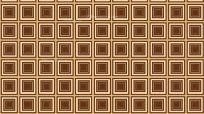 Brown Seamless Concentric Squares Pattern Vector Illustration