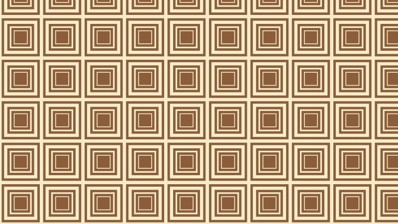 Brown Seamless Concentric Squares Pattern Background Vector