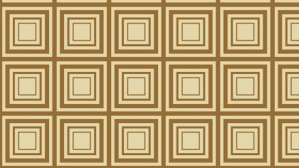 Brown Concentric Squares Pattern