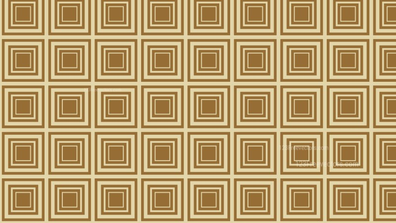 Brown Concentric Squares Pattern Background