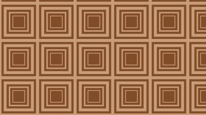 Brown Concentric Squares Background Pattern
