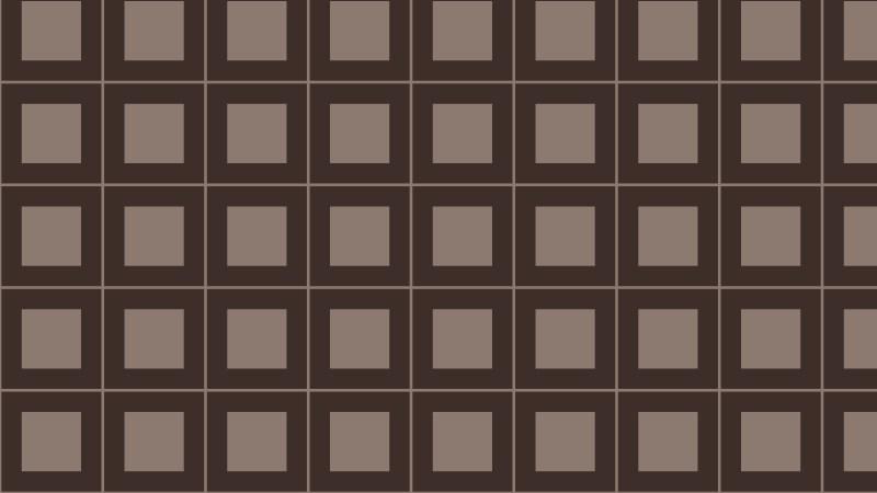 Dark Brown Geometric Square Pattern
