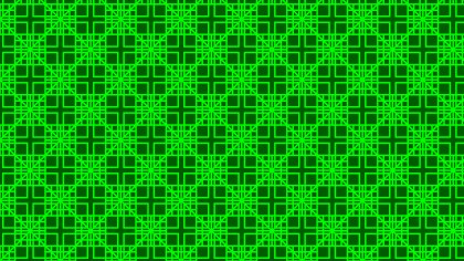 Neon Green Geometric Square Pattern Background