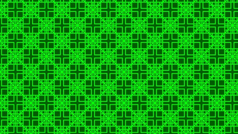 Neon Green Geometric Square Pattern Background