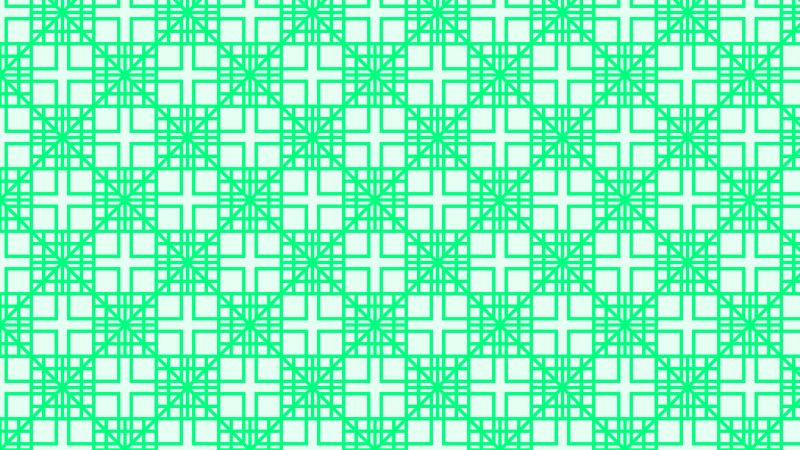 Spring Green Seamless Geometric Square Background Pattern