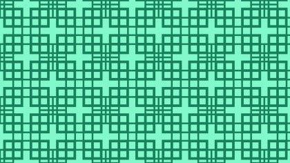 Mint Green Seamless Square Pattern Background Vector Image