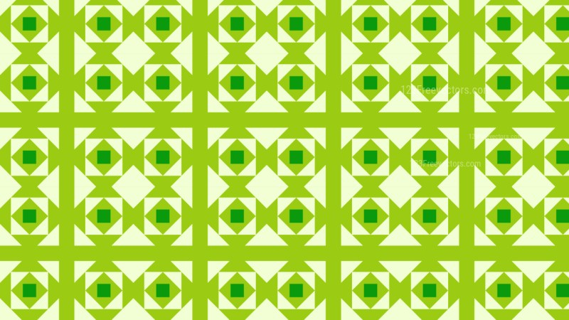 Green Seamless Geometric Square Pattern Background Vector
