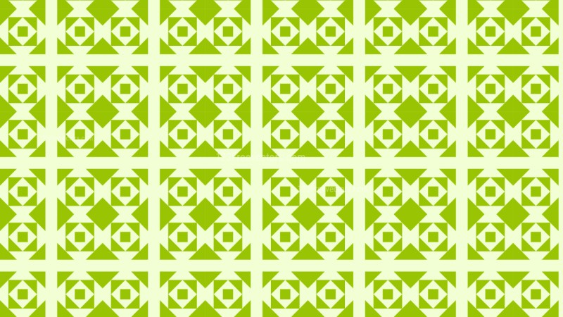 Light Green Seamless Square Pattern