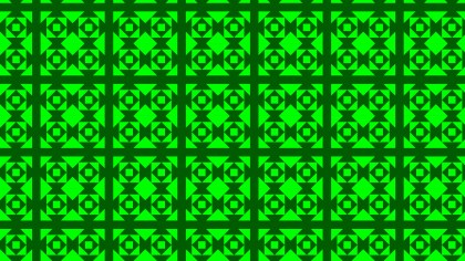 Neon Green Seamless Square Pattern Background