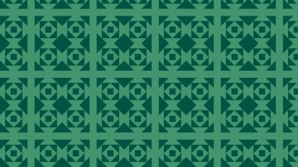 Dark Green Seamless Geometric Square Pattern
