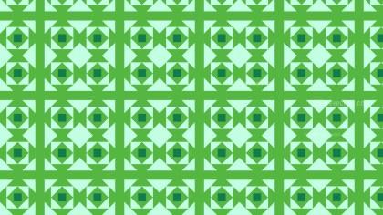Green Seamless Geometric Square Pattern Background