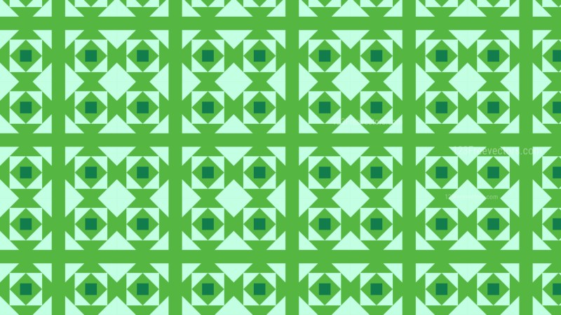 Green Seamless Geometric Square Pattern Background