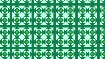Green Seamless Geometric Square Background Pattern