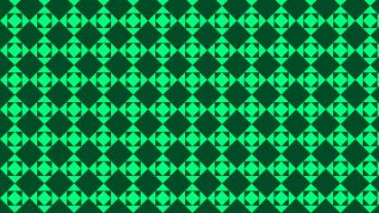 Emerald Green Seamless Square Pattern Background Vector Art