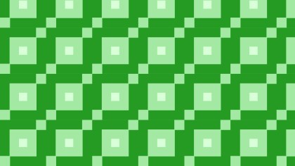 Green Seamless Geometric Square Background Pattern Image