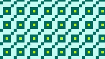 Green Geometric Square Pattern
