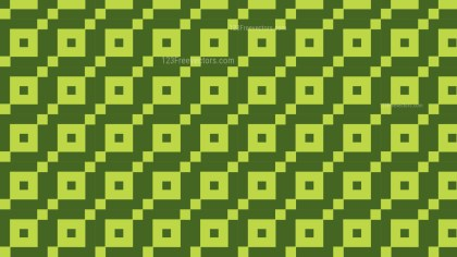 Moss Green Seamless Geometric Square Pattern Background