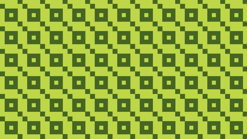 Green Seamless Geometric Square Background Pattern