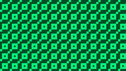 Green Square Pattern Background Vector Illustration