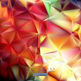 Red Yellow Polygon Triangle Background