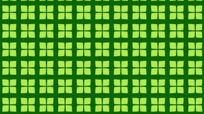 Green Seamless Geometric Square Background Pattern Vector Illustration