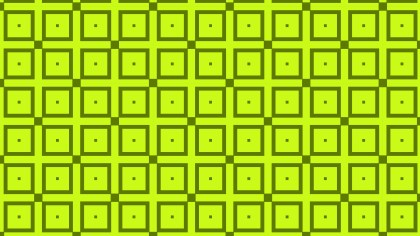 Lime Green Geometric Square Background Pattern