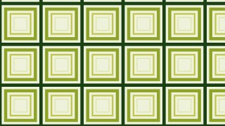 Green Concentric Squares Pattern Illustrator