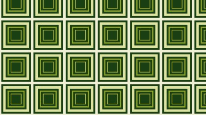 Dark Green Concentric Squares Pattern Background Vector Illustration