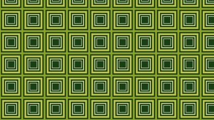 Dark Green Concentric Squares Background Pattern Vector