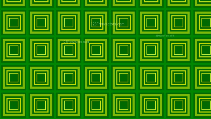 Green Seamless Concentric Squares Pattern Vector Art