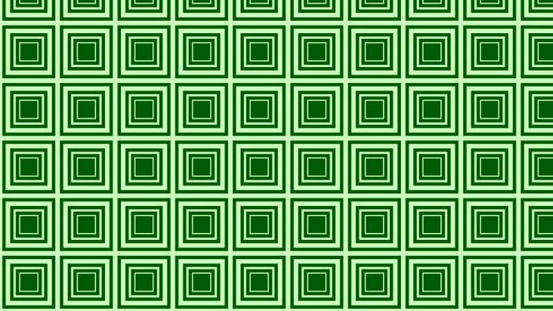 Green Concentric Squares Pattern