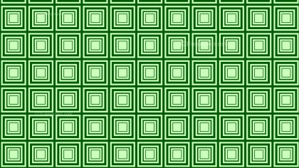 Green Concentric Squares Pattern Background