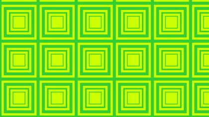 Green and Yellow Concentric Squares Background Pattern