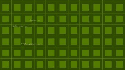 Dark Green Seamless Square Pattern Background