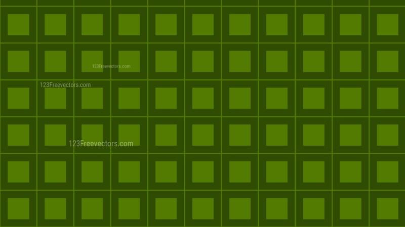 Dark Green Seamless Square Pattern Background