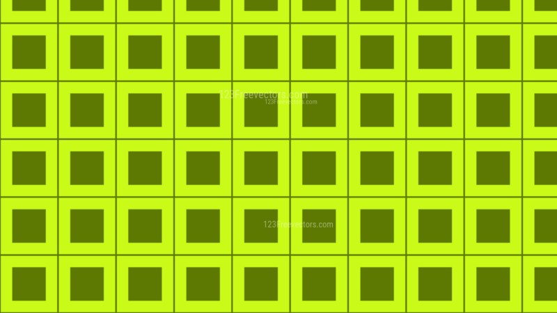Lime Green Square Pattern Background Illustration