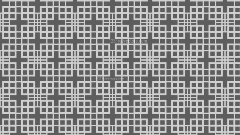 Dark Grey Geometric Square Pattern Vector Illustration