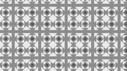 Grey Geometric Square Pattern