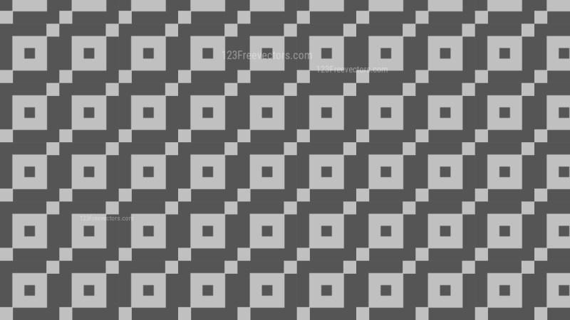 Dark Grey Seamless Square Pattern Background Vector Image