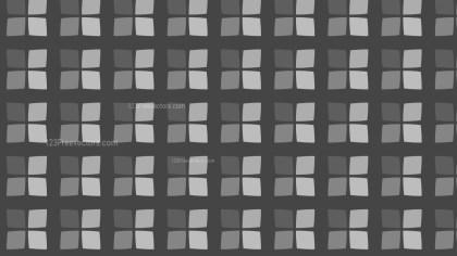Dark Grey Geometric Square Pattern