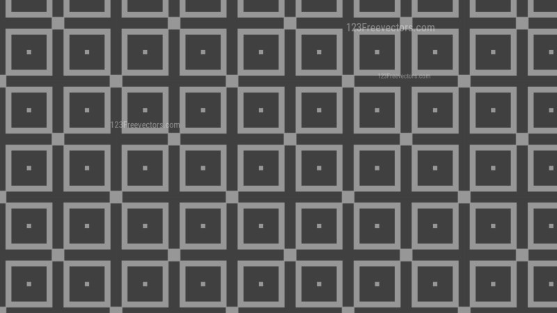 Dark Grey Seamless Geometric Square Background Pattern