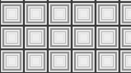 Grey Concentric Squares Background Pattern Graphic