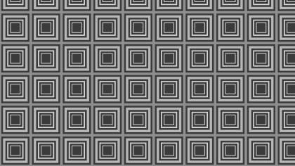 Dark Grey Seamless Concentric Squares Pattern Background Design
