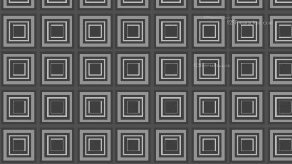 Dark Grey Seamless Concentric Squares Background Pattern Image